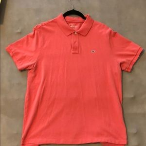 Vineyard Vines Coral Polo Shirt